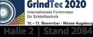 GrindTec 10.-13. November, Messe Augsburg, Halle 2, Stand 2084